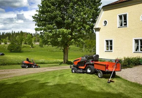 Подгответе градината с тракторна косачка Husqvarna